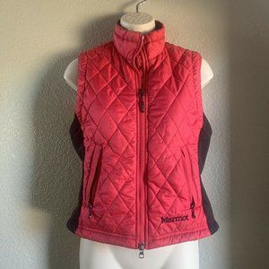 Women's Marmot Quilted Puffer Vest, Pink, Size XS